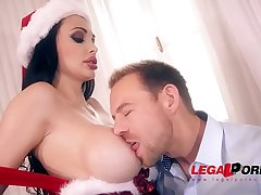 XXXmas hardcore fucking gives Santa Milf Aletta Ocean chills be useful to pleasure GP390