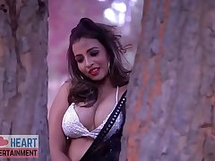 Saree lover in Black saree bikini blouse saree fantasy