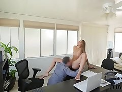 LOAN4K. Liza feels like at porn casting when gets fucked for cash