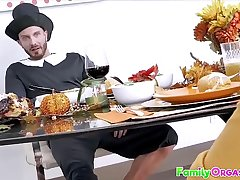 FamilyOrgasm.com - Medieval Family Stroking Orgy Thanksgiving