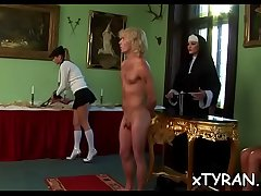 Elegant goddess live out her fetish screwing maid with toy