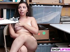 Neat Teen Luna Gets Penis For Shoplifting
