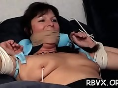 Hot blindfolded youngster experiences 1st subjection punishment