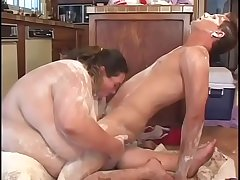 Horny fat lifeguard Tree Sweet has hardcore fetish fuck in the kitchen