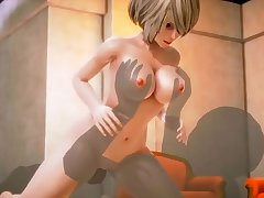 3D Cartoon sex  - Big cock is pounding young glum blond with passion - http://toonypip.vip - 3D Cartoon sex