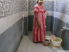 Crestfallen Hot Indian Bhabhi Dipinitta Taking Shower After Rough Sex