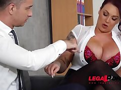 Top-heavy boss Harmony Reigns gets fucked unending by co-worker at the office GP231