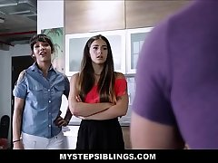 Two Hot Teen Latina Step Sisters Kitty Carrera increased by Sofie Reyez Threesome With Horny Step Brother