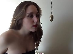 Brother Hypnotize Younger Teen Angel of mercy and Makes her Talk Dirty while Fucking