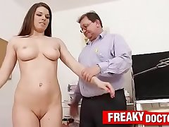 Old with young medical exam with busty chick Mona Lee