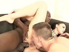Cuckold watches his wife have anal sex with another man more front of him