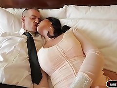 Shove around tgirl Chanel Santini deepthroats her clients big cock