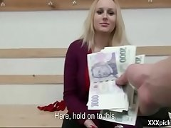 Public Pickups - Clumsy Euro Slut Seduces Tourist For Money 05