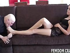 Lay back plus let me give you a footjob