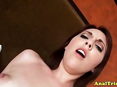 Amateur sweetie assfucked after cockriding