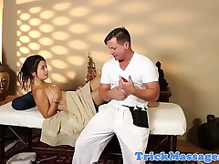 Massage amateur getting plowed by masseur