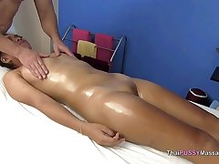 Passing Asian girl receives payola massage