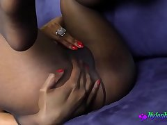 Ebony Babe Loves to Play With Her Vagina a All of a add up to