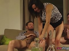 DP fucked eurobabe gets facialized