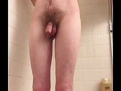 Fit guy in shower