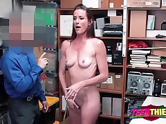 Sofie strips down be useful to horny officer to bang say no to once found guilty of stealing