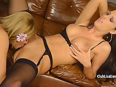 Flawless Lisa Daniels and her girlfriend are toying pussies